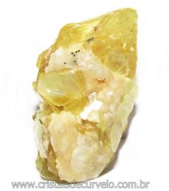 Chapa de Mica Amarela Bruta Natural de Garimpo Cod 115582