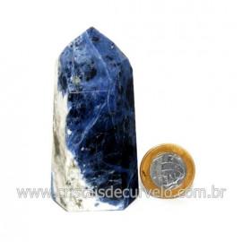 Ponta Sodalita Pedra Natural Gerador Sextavado Cod 128894