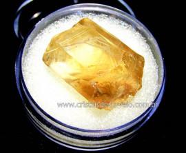 Citrino Bruto Amostra No Estojo Mineral Natural Cod CN2342