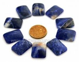 10 Retangulo Cabochao pra Pingente Pedra Sodalita AZul Lapidado Calibrado 15 x 20 MM