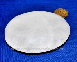 Sabonete Massageador Pedra Quartzo Leitoso Natural Cod SL8935