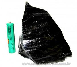 Obsidiana Negra Mineral Vulcânico Pedra Natural Cod 110151