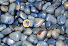 1 kg Pedra Rolado QUARTZO AZUL Comum Tamanho Grande REF 244993