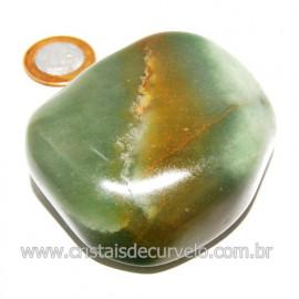 Massageador De Seixo Pedra Quartzo Verde Natural Cod 123847