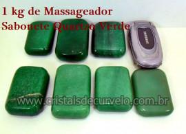 1 kg Massageador Sabonete Cristal Quartzo Verde Massagem Terapeutica Com Pedras