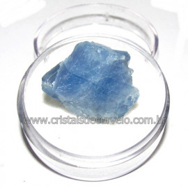 Calcita Azul do Mexico no Estojo Pedra Natural Cod 114192