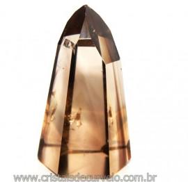 Ponta Citrino Natural e Fume Pedra Quartzo Bi Color 109286