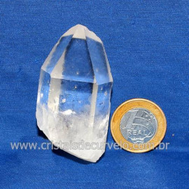 Ponta Cristal Bruto Quartzo de Garimpo Natural Cod 123925