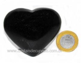 Coração Quartzo Preto Quartzito Negro Pedra Natural Cod CP1438