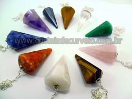 10 Pendulo Facetado Misto Varias Pedras Natural Lapidação ATACADO
