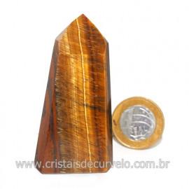 Ponta Olho de Tigre Pedra Extra Natural de Garimpo Cod 119107