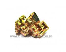 Bismuto Mineral ou Bismuth Stone Pedra Natural Cod BB3178