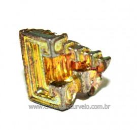Bismuto Mineral ou Bismuth Stone Pedra Natural Cod BB8508