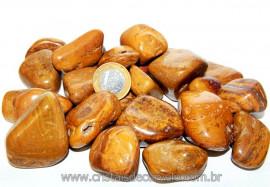Pedra Rolado Jaspe Amarelo Tamanho Grande Pacote 1kg Reff JR5784