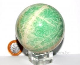Esfera Amazonita Verde Pedra Natural de Garimpo Cod BA9144