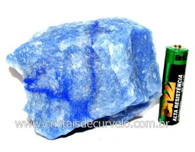Quartzo Azul ou Aventurina Azul Pedra Bruto Natural Cod QA1137