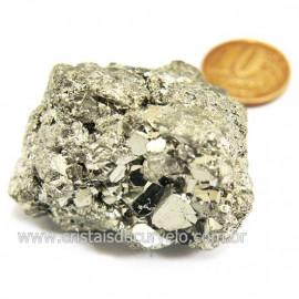 Pirita Peruana Pedra Extra Com Belos Cubo Mineral Cod 124216