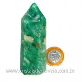 Ponta Jade Verde Extra Lapidado Pedra Natural Garimpo Cod 126760