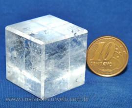 Cubo de Cristal Sólido de Platão Facetado Cod 107922