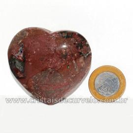 Coração Pedra Quartzo Jiboia Natural Lapidação manual Cod 126881