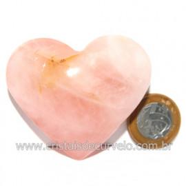 Coração Pedra Quartzo Rosa Natural Pedra do Amor Cod 119130