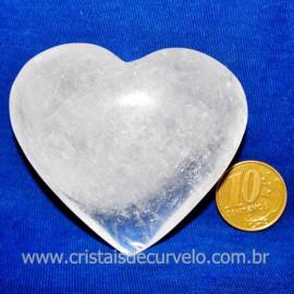 Coração Cristal Comum Qualidade Natural Garimpo Cod 117458