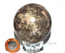 Esfera Pedra Dolomita Cinza Bola Mineral Natural Cod ED6651