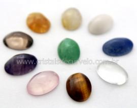 100 Cabochao Oval PEDRAS MISTAS Pedra Lapidado Manual  25 x 17 MM