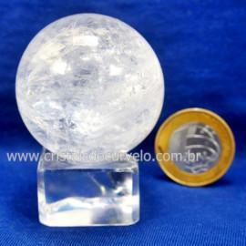 Bola Cristal Boa Qualidade Esfera Pedra Natural Cod 127549