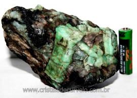 Esmeralda Canudo Incrustado Xisto Pedra Natural Cod CE2561