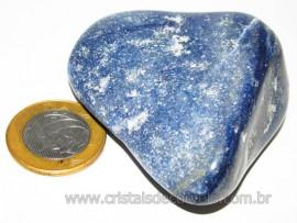 Massageador De Seixo Pedra Quartzo Azul Natural Cod 106010