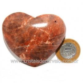 Coração Amazonita Pêssego Pedra Natural de Garimpo Cod 119052