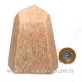 Ponta Amazonita Rosa Pedra Da Família Feldspato Cod 121427