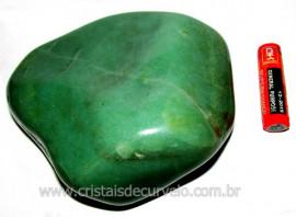 Massageador De Seixo Pedra Quartzo Verde Natural Cod MV7250