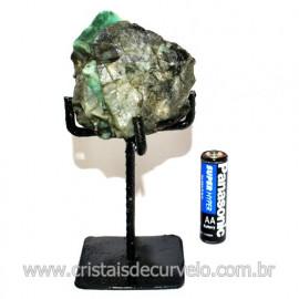 Esmeralda Canudo Pedra Natural com Suporte De Ferro Cod 119348