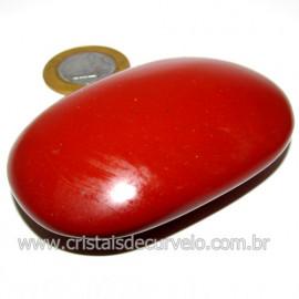 Sabonete Massageador Jaspe Vermelho Pedra Natural Cod 114304