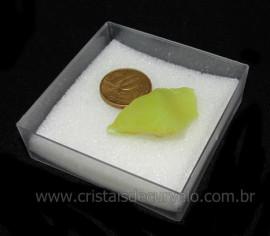 Calcedonia Verde Natural No Estojo Ideal P/Coleção Cod 104731