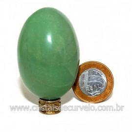 Ovo Aventurina Verde Pedra Quartzo Verde Natural Cod 127083