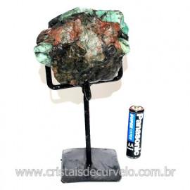 Esmeralda Canudo Pedra Natural com Suporte De Ferro Cod 119354