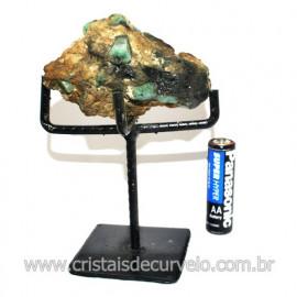 Esmeralda Canudo Pedra Natural com Suporte De Ferro Cod 119351