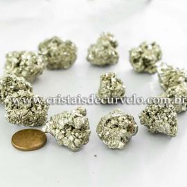 10 Pirita Peruana 25mm Pedra Bruta Natural P/ Orgonite ATACADO
