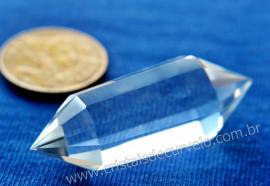 Cristal Voguel 12 Facetas Pequeno Quartzo Bi-terminado Extra Transparencia REF 47.2