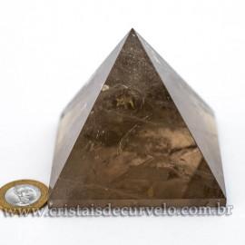 Pirâmide GRANDE Pedra Quartzo Fumê Natural Queops cod 120725