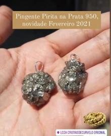 Pingente Pirita Natural 2021 Pino Prata 950 PPLJFISICA