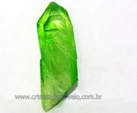 Ponta Crystal Aura Apple ou Maça Verde Pedra Bruta Cod AA1087