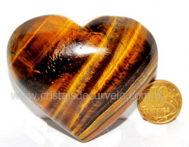 Coração Olho de Tigre Pedra Extra Origem Africa Cod CT5653