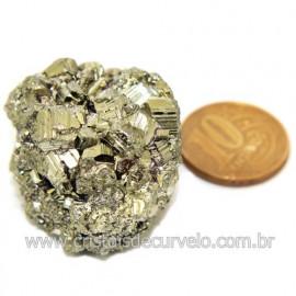 Pirita Peruana Pedra Extra Com Belos Cubo Mineral Cod 119273