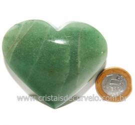Coração Quartzo Verde Natural Comum Qualidade Cod 119829