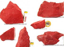 JASPE VERMELHO Pedra Bruto Pra Lapidar Pacote Atacado 20 kg