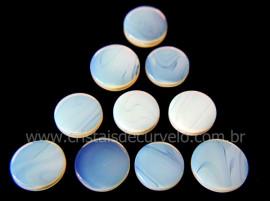 10 Disco Pedra Da Lua Opalina Ranhurado Pra Joia REFF DR7281